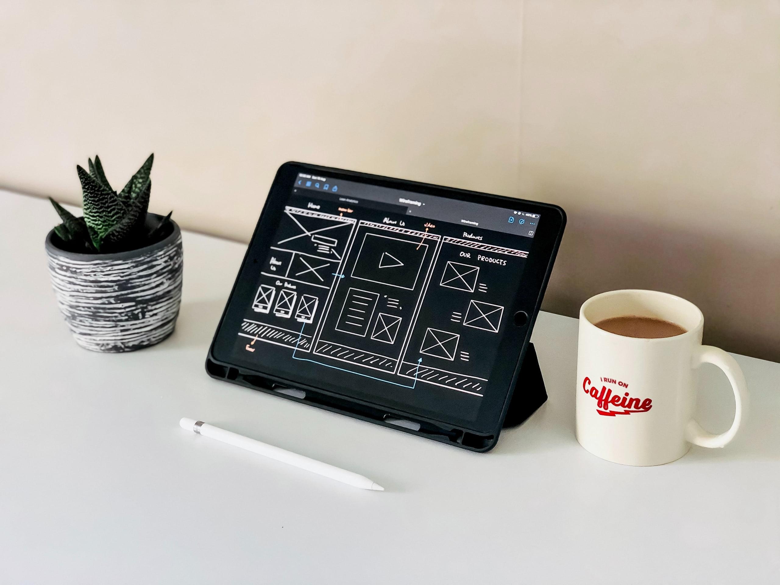 working on website design